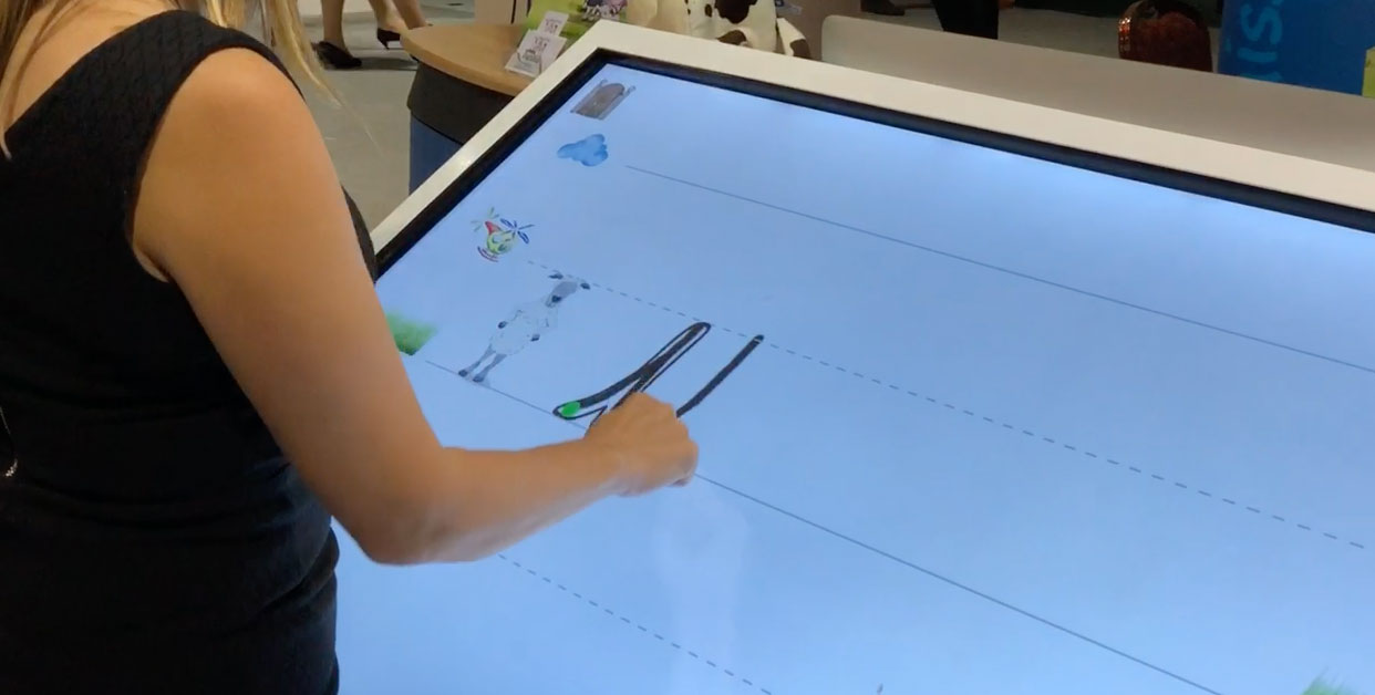 Using the interactive whiteboard